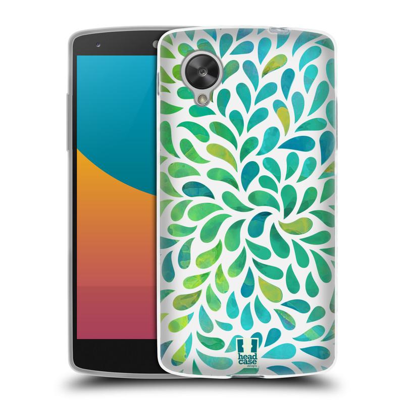 Silikonové pouzdro na mobil LG Nexus 5 HEAD CASE Droplet Wave Kapičky (Silikonový kryt či obal na mobilní telefon LG Google Nexus 5 D821)