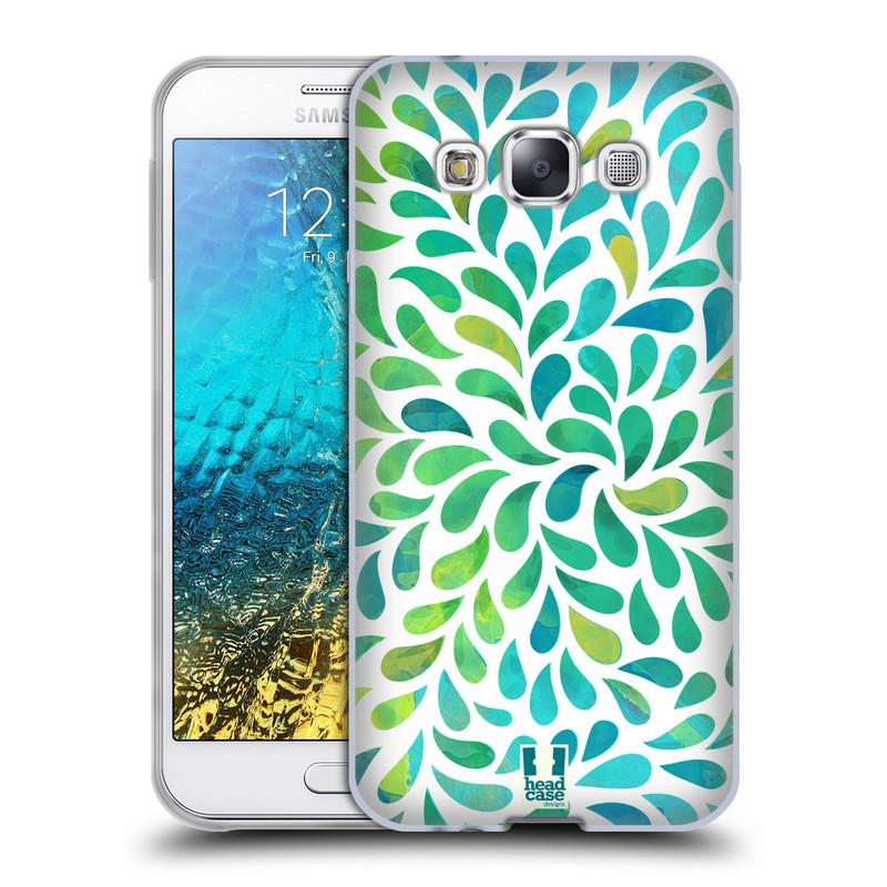 Silikonové pouzdro na mobil Samsung Galaxy E5 HEAD CASE Droplet Wave Kapičky (Silikonový kryt či obal na mobilní telefon Samsung Galaxy E5 SM-E500)