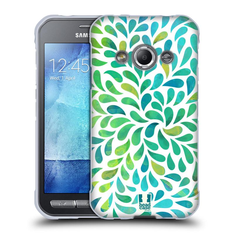 Silikonové pouzdro na mobil Samsung Galaxy Xcover 3 HEAD CASE Droplet Wave Kapičky (Silikonový kryt či obal na mobilní telefon Samsung Galaxy Xcover 3 SM-G388F)