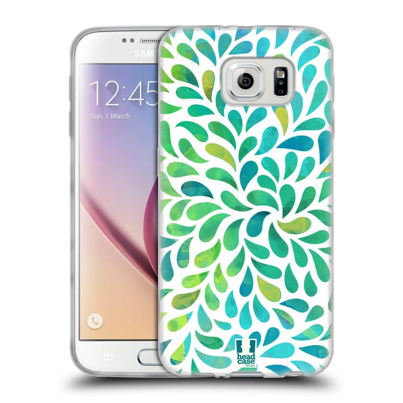 Silikonové pouzdro na mobil Samsung Galaxy S6 HEAD CASE Droplet Wave Kapičky (Silikonový kryt či obal na mobilní telefon Samsung Galaxy S6 SM-G920F)