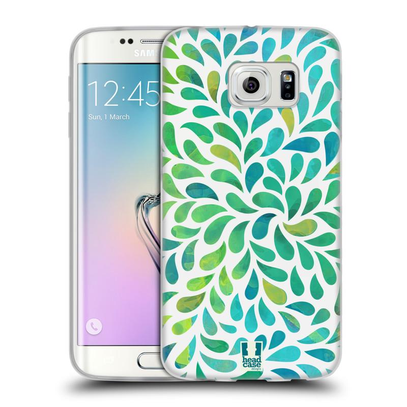 Silikonové pouzdro na mobil Samsung Galaxy S6 Edge HEAD CASE Droplet Wave Kapičky (Silikonový kryt či obal na mobilní telefon Samsung Galaxy S6 Edge SM-G925F)