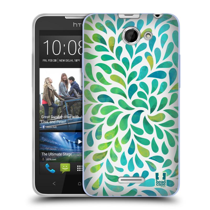 Silikonové pouzdro na mobil HTC Desire 516 HEAD CASE Droplet Wave Kapičky (Silikonový kryt či obal na mobilní telefon HTC Desire 516 Dual SIM)