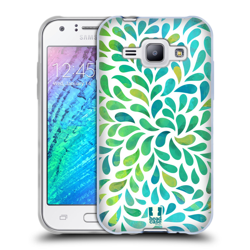 Silikonové pouzdro na mobil Samsung Galaxy J1 HEAD CASE Droplet Wave Kapičky (Silikonový kryt či obal na mobilní telefon Samsung Galaxy J1 a J1 Duos)