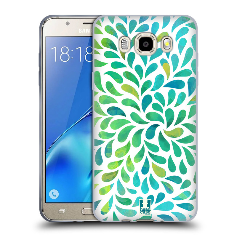 Silikonové pouzdro na mobil Samsung Galaxy J5 (2016) HEAD CASE Droplet Wave Kapičky (Silikonový kryt či obal na mobilní telefon Samsung Galaxy J5 (2016) SM-J510)
