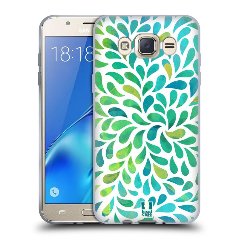 Silikonové pouzdro na mobil Samsung Galaxy J7 (2016) HEAD CASE Droplet Wave Kapičky (Silikonový kryt či obal na mobilní telefon Samsung Galaxy J7 (2016) SM-J710)