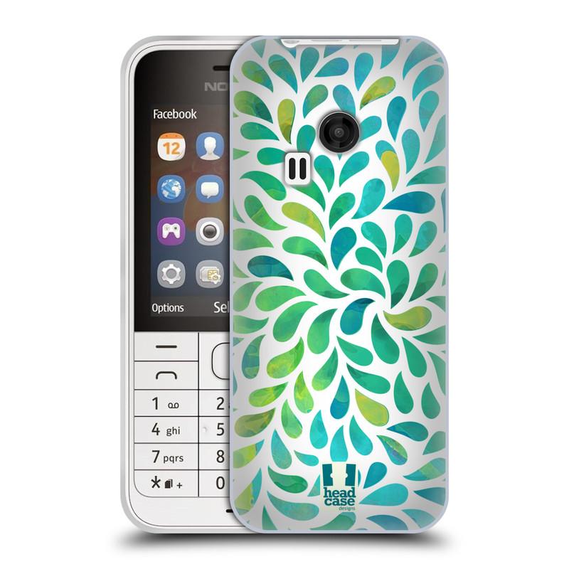 Silikonové pouzdro na mobil Nokia 220 HEAD CASE Droplet Wave Kapičky (Silikonový kryt či obal na mobilní telefon Nokia 220 a 220 Dual SIM)