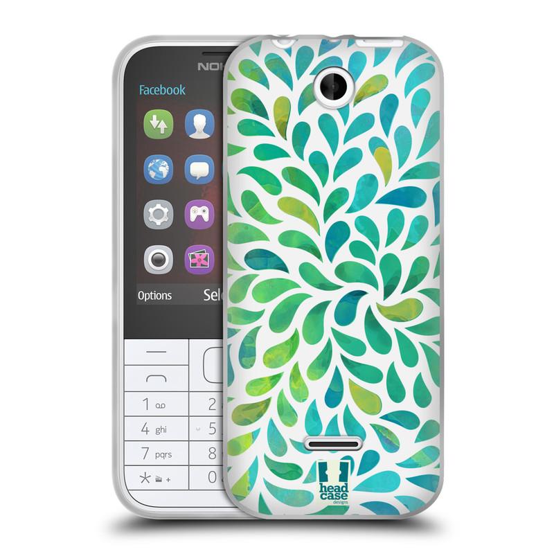 Silikonové pouzdro na mobil Nokia 225 HEAD CASE Droplet Wave Kapičky (Silikonový kryt či obal na mobilní telefon Nokia 225)