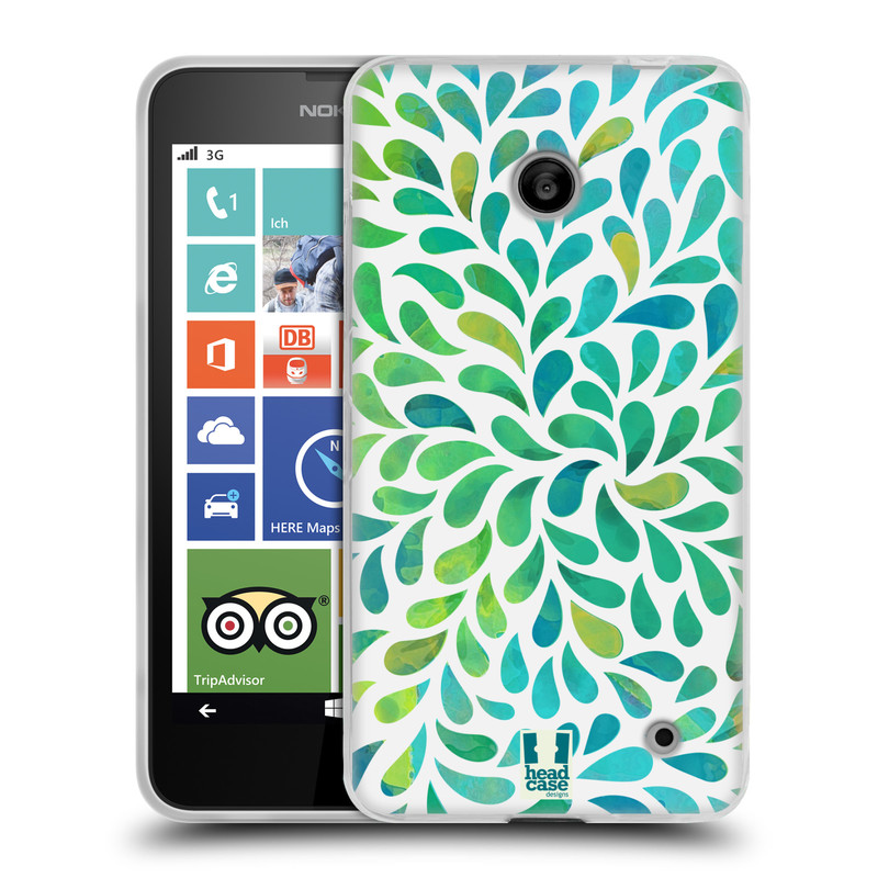 Silikonové pouzdro na mobil Nokia Lumia 630 HEAD CASE Droplet Wave Kapičky (Silikonový kryt či obal na mobilní telefon Nokia Lumia 630 a Nokia Lumia 630 Dual SIM)