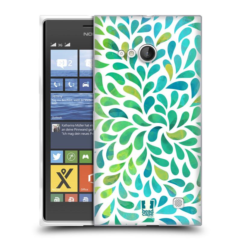 Silikonové pouzdro na mobil Nokia Lumia 730 Dual SIM HEAD CASE Droplet Wave Kapičky (Silikonový kryt či obal na mobilní telefon Nokia Lumia 730 Dual SIM)