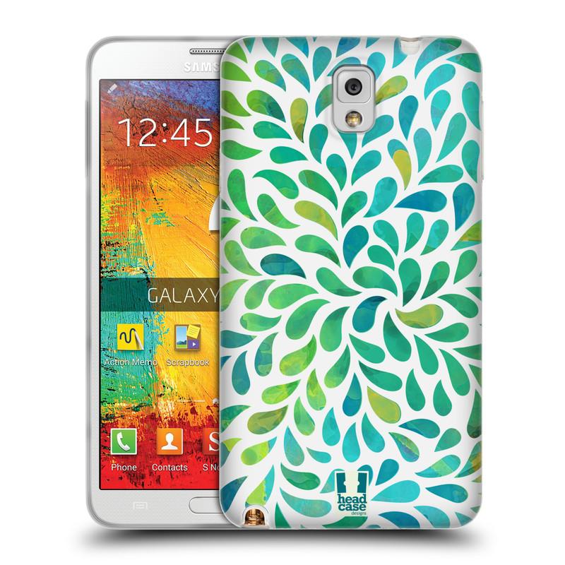 Silikonové pouzdro na mobil Samsung Galaxy Note 3 HEAD CASE Droplet Wave Kapičky (Silikonový kryt či obal na mobilní telefon Samsung Galaxy Note 3 SM-N9005)