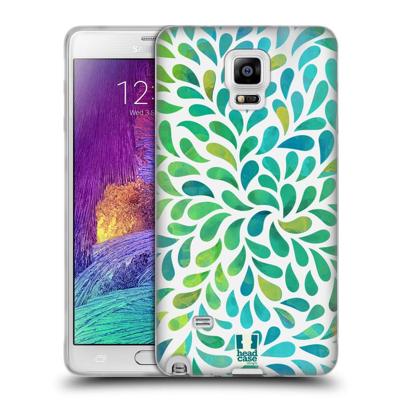 Silikonové pouzdro na mobil Samsung Galaxy Note 4 HEAD CASE Droplet Wave Kapičky (Silikonový kryt či obal na mobilní telefon Samsung Galaxy Note 4 SM-N910F)