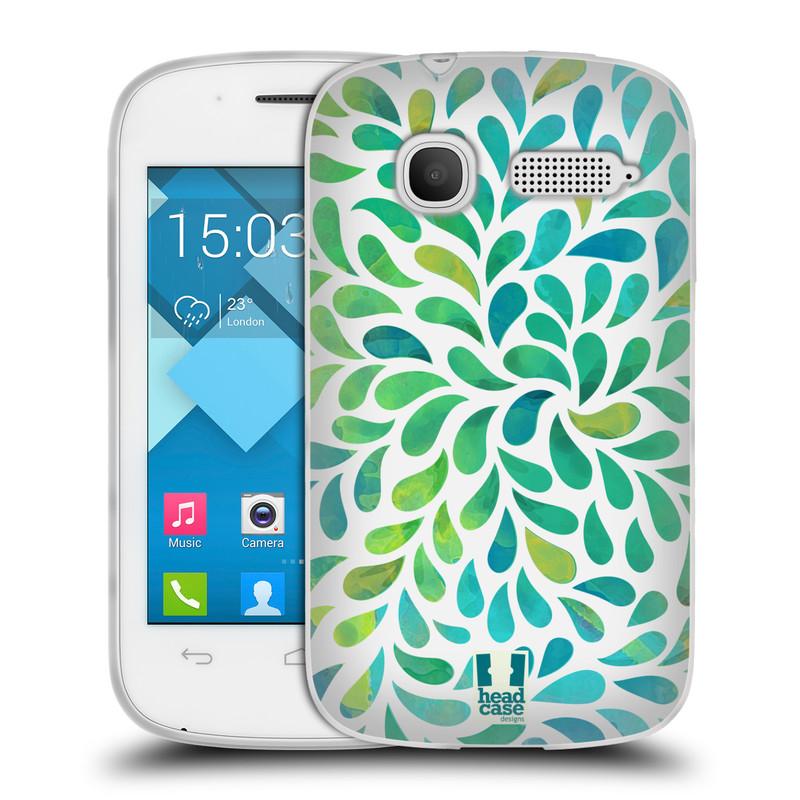 Silikonové pouzdro na mobil Alcatel One Touch Pop C1 HEAD CASE Droplet Wave Kapičky (Silikonový kryt či obal na mobilní telefon Alcatel OT-4015D POP C1)