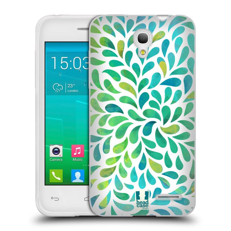 Silikonové pouzdro na mobil Alcatel One Touch Pop S3 HEAD CASE Droplet Wave Kapičky (Silikonový kryt či obal na mobilní telefon Alcatel OT- 5050Y POP S3)