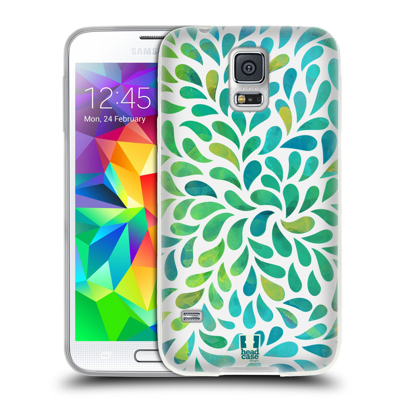 Silikonové pouzdro na mobil Samsung Galaxy S5 HEAD CASE Droplet Wave Kapičky (Silikonový kryt či obal na mobilní telefon Samsung Galaxy S5 SM-G900F)