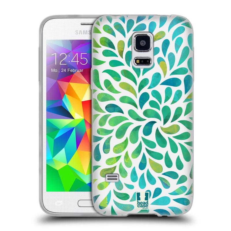 Silikonové pouzdro na mobil Samsung Galaxy S5 Mini HEAD CASE Droplet Wave Kapičky (Silikonový kryt či obal na mobilní telefon Samsung Galaxy S5 Mini SM-G800F)