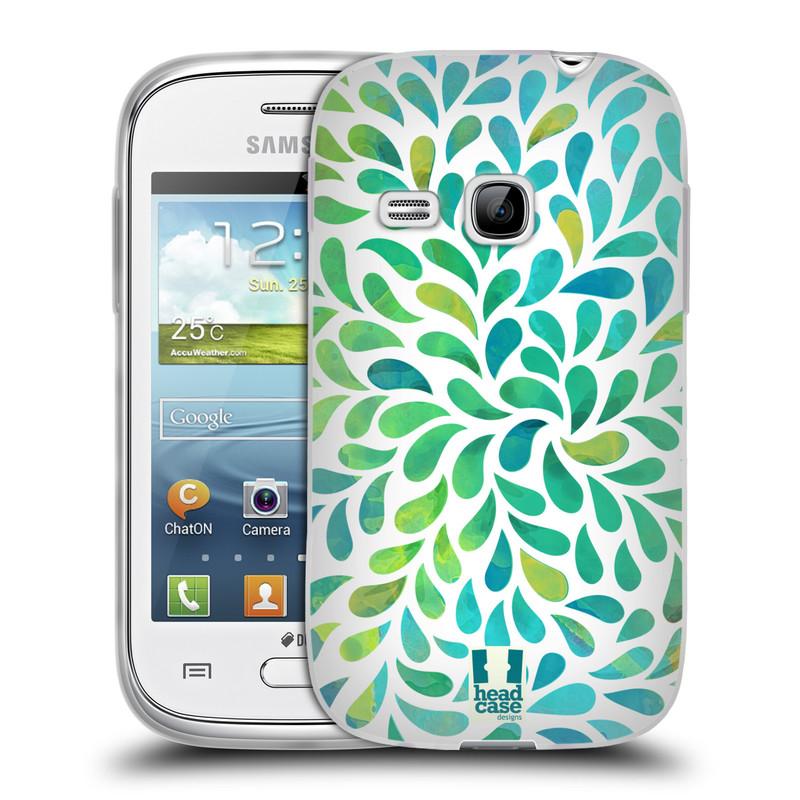 Silikonové pouzdro na mobil Samsung Galaxy Young HEAD CASE Droplet Wave Kapičky (Silikonový kryt či obal na mobilní telefon Samsung Galaxy Young GT-S6310)