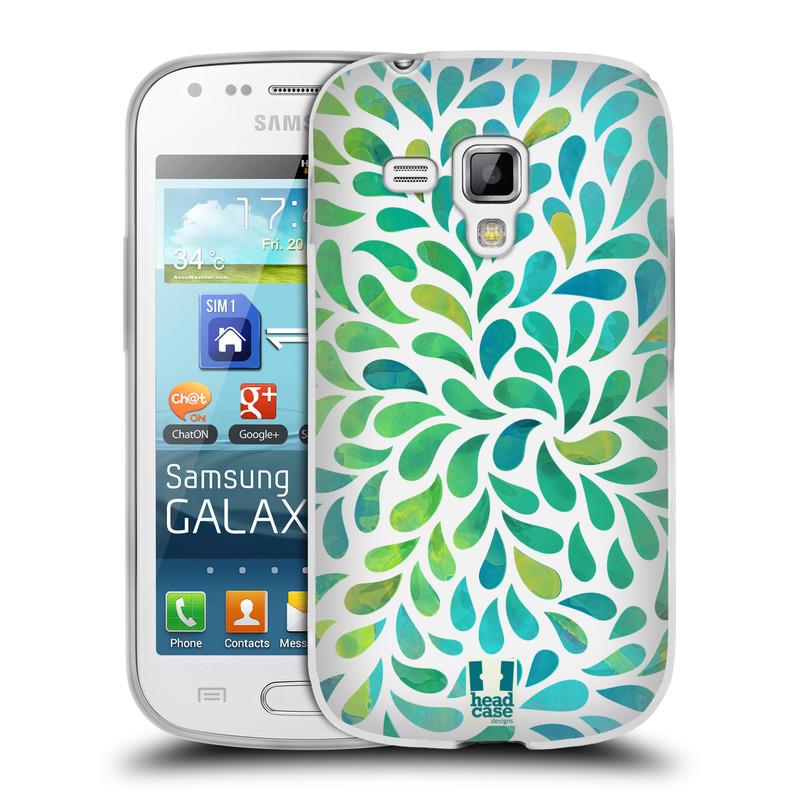 Silikonové pouzdro na mobil Samsung Galaxy Trend HEAD CASE Droplet Wave Kapičky (Silikonový kryt či obal na mobilní telefon Samsung Galaxy Trend GT-S7560)