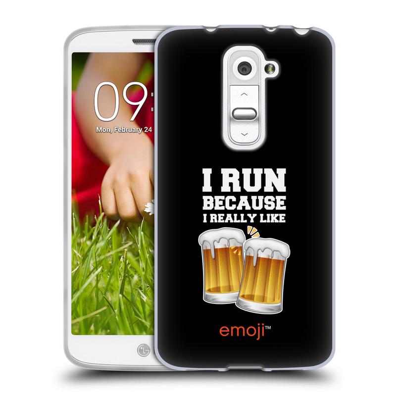 Silikonové pouzdro na mobil LG G2 Mini HEAD CASE EMOJI - Běhám na pivko (Silikonový kryt či obal s oficiálním motivem EMOJI na mobilní telefon LG G2 Mini D620)