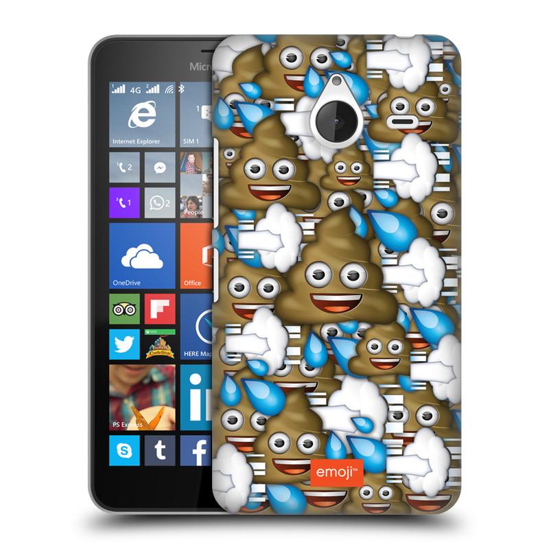 Plastové pouzdro na mobil Microsoft Lumia 640 XL HEAD CASE EMOJI - Hovínka a prdíky (Kryt či obal s oficiálním motivem EMOJI na mobilní telefon Microsoft Lumia 640 XL)