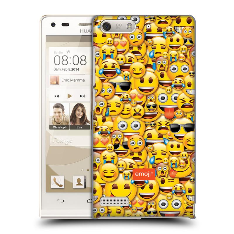 Plastové pouzdro na mobil Huawei Ascend G6 HEAD CASE EMOJI - Mnoho malých smajlíků (Kryt či obal s oficiálním motivem EMOJI na mobilní telefon Huawei Ascend G6 bez LTE)
