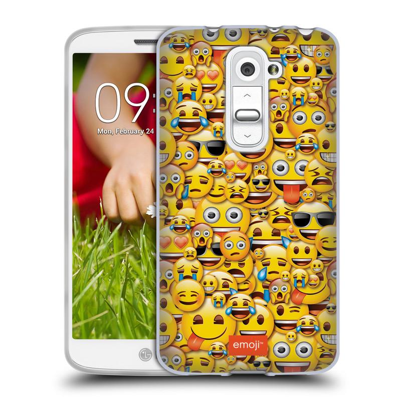 Silikonové pouzdro na mobil LG G2 Mini HEAD CASE EMOJI - Mnoho malých smajlíků (Silikonový kryt či obal s oficiálním motivem EMOJI na mobilní telefon LG G2 Mini D620)