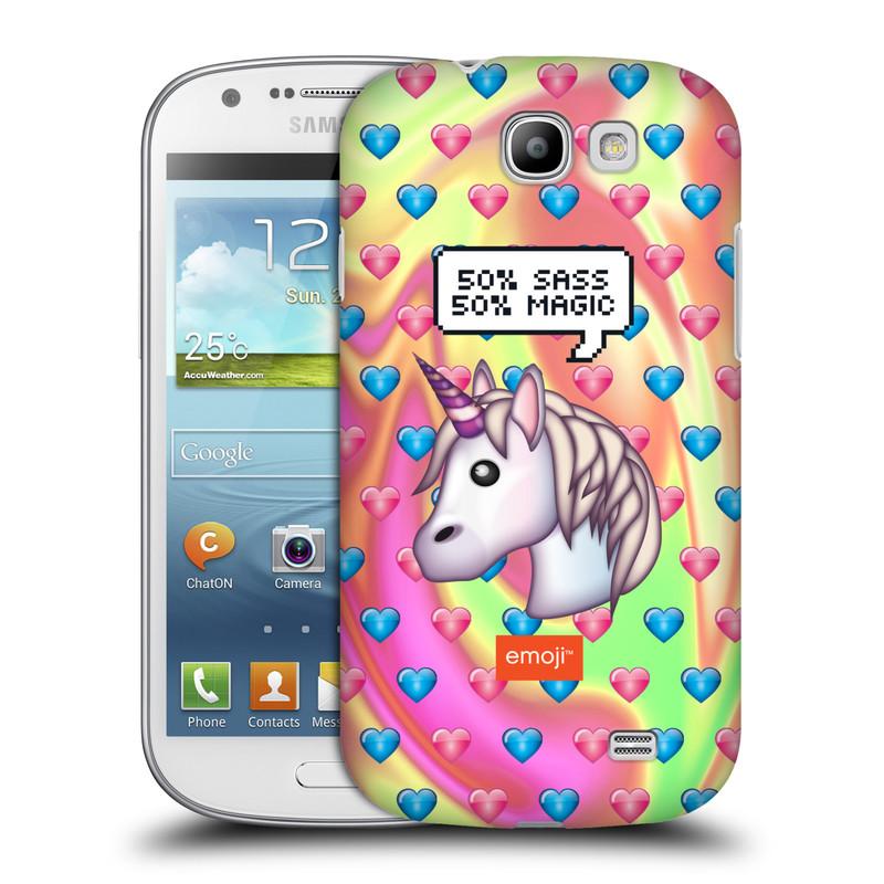 Plastové pouzdro na mobil Samsung Galaxy Express HEAD CASE EMOJI - Jednorožec (Kryt či obal s oficiálním motivem EMOJI na mobilní telefon Samsung Galaxy Express GT-i8730)