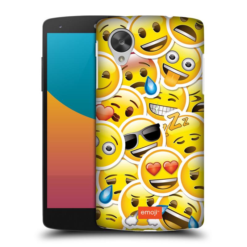Plastové pouzdro na mobil LG Nexus 5 HEAD CASE EMOJI - Velcí smajlíci ZZ (Kryt či obal s oficiálním motivem EMOJI na mobilní telefon LG Google Nexus 5 D821)