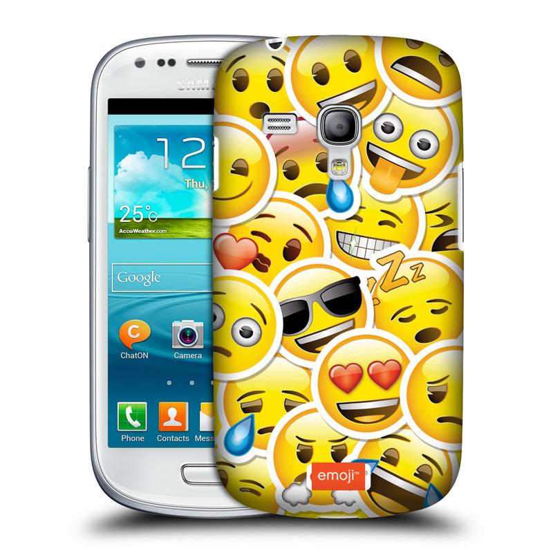 Silikonové pouzdro na mobil Samsung Galaxy S III Mini VE HEAD CASE EMOJI - Velcí smajlíci ZZ (Kryt či obal s oficiálním motivem EMOJI na mobilní telefon Samsung Galaxy S3 Mini VE GT-i8200)