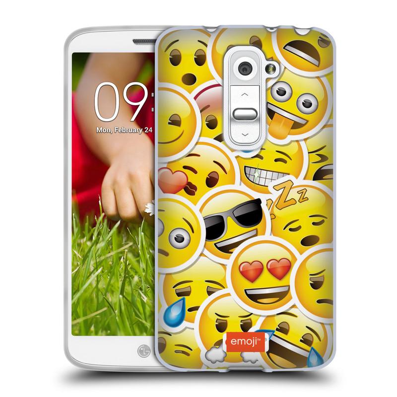 Silikonové pouzdro na mobil LG G2 Mini HEAD CASE EMOJI - Velcí smajlíci ZZ (Silikonový kryt či obal s oficiálním motivem EMOJI na mobilní telefon LG G2 Mini D620)