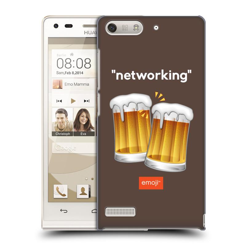Plastové pouzdro na mobil Huawei Ascend G6 HEAD CASE EMOJI - Pivní networking (Kryt či obal s oficiálním motivem EMOJI na mobilní telefon Huawei Ascend G6 bez LTE)