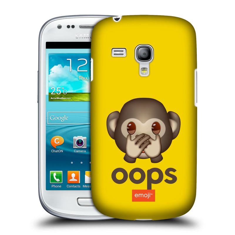 Silikonové pouzdro na mobil Samsung Galaxy S III Mini VE HEAD CASE EMOJI - Opička OOPS (Kryt či obal s oficiálním motivem EMOJI na mobilní telefon Samsung Galaxy S3 Mini VE GT-i8200)