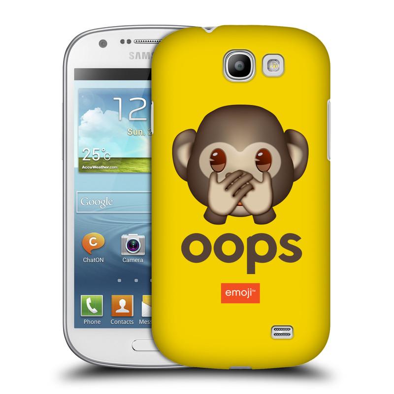 Plastové pouzdro na mobil Samsung Galaxy Express HEAD CASE EMOJI - Opička OOPS (Kryt či obal s oficiálním motivem EMOJI na mobilní telefon Samsung Galaxy Express GT-i8730)