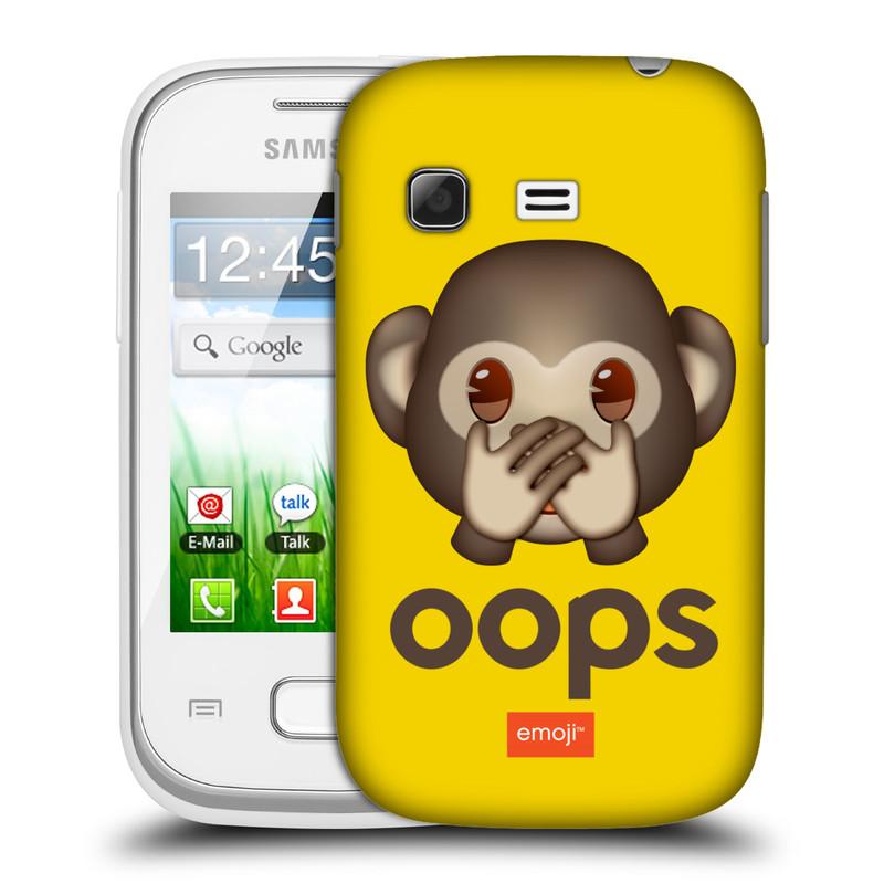 Plastové pouzdro na mobil Samsung Galaxy Pocket HEAD CASE EMOJI - Opička OOPS (Kryt či obal s oficiálním motivem EMOJI na mobilní telefon Samsung Galaxy Pocket GT-S5300)