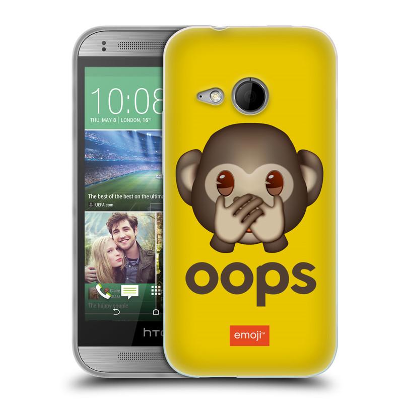 Silikonové pouzdro na mobil HTC ONE Mini 2 HEAD CASE EMOJI - Opička OOPS (Silikonový kryt či obal s oficiálním motivem EMOJI na mobilní telefon HTC ONE Mini 2)