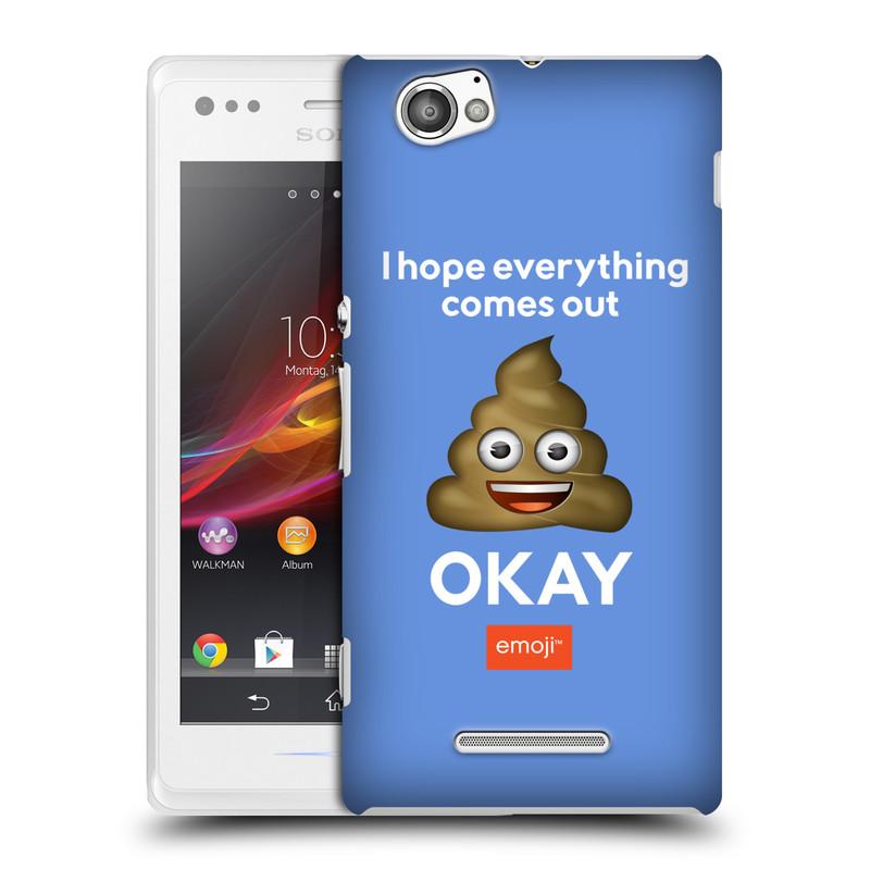 Plastové pouzdro na mobil Sony Xperia M C1905 HEAD CASE EMOJI - Hovínko OKAY (Kryt či obal s oficiálním motivem EMOJI na mobilní telefon Sony Xperia M )