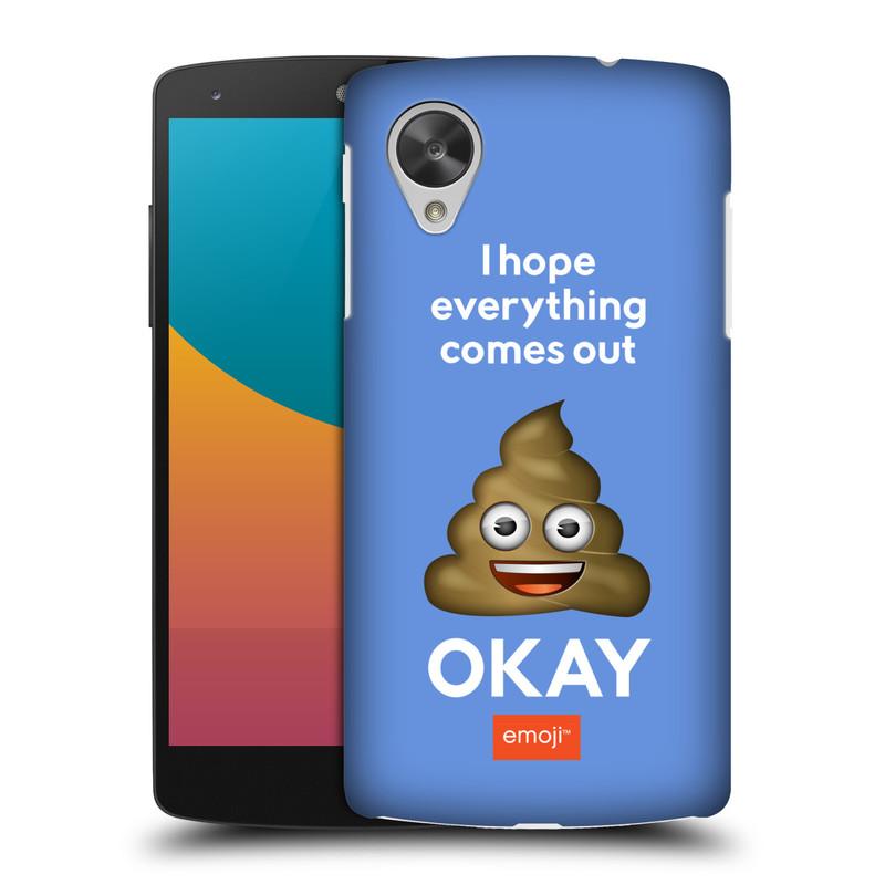 Plastové pouzdro na mobil LG Nexus 5 HEAD CASE EMOJI - Hovínko OKAY (Kryt či obal s oficiálním motivem EMOJI na mobilní telefon LG Google Nexus 5 D821)
