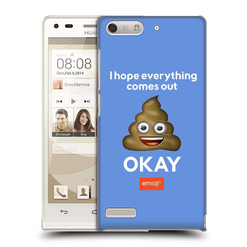 Plastové pouzdro na mobil Huawei Ascend G6 HEAD CASE EMOJI - Hovínko OKAY (Kryt či obal s oficiálním motivem EMOJI na mobilní telefon Huawei Ascend G6 bez LTE)