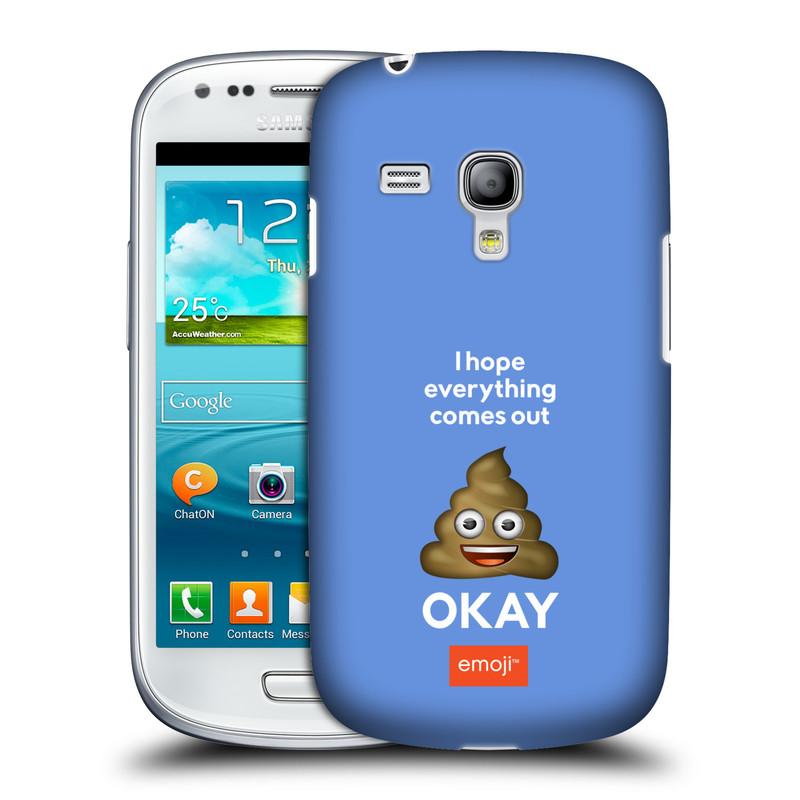 Silikonové pouzdro na mobil Samsung Galaxy S III Mini VE HEAD CASE EMOJI - Hovínko OKAY (Kryt či obal s oficiálním motivem EMOJI na mobilní telefon Samsung Galaxy S3 Mini VE GT-i8200)