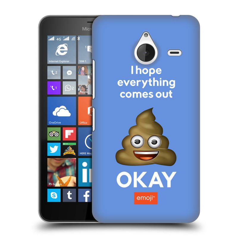 Plastové pouzdro na mobil Microsoft Lumia 640 XL HEAD CASE EMOJI - Hovínko OKAY (Kryt či obal s oficiálním motivem EMOJI na mobilní telefon Microsoft Lumia 640 XL)
