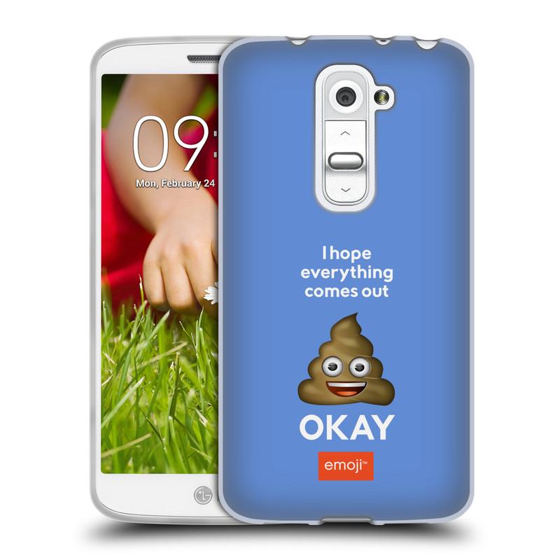 Silikonové pouzdro na mobil LG G2 Mini HEAD CASE EMOJI - Hovínko OKAY (Silikonový kryt či obal s oficiálním motivem EMOJI na mobilní telefon LG G2 Mini D620)