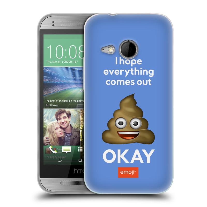 Silikonové pouzdro na mobil HTC ONE Mini 2 HEAD CASE EMOJI - Hovínko OKAY (Silikonový kryt či obal s oficiálním motivem EMOJI na mobilní telefon HTC ONE Mini 2)