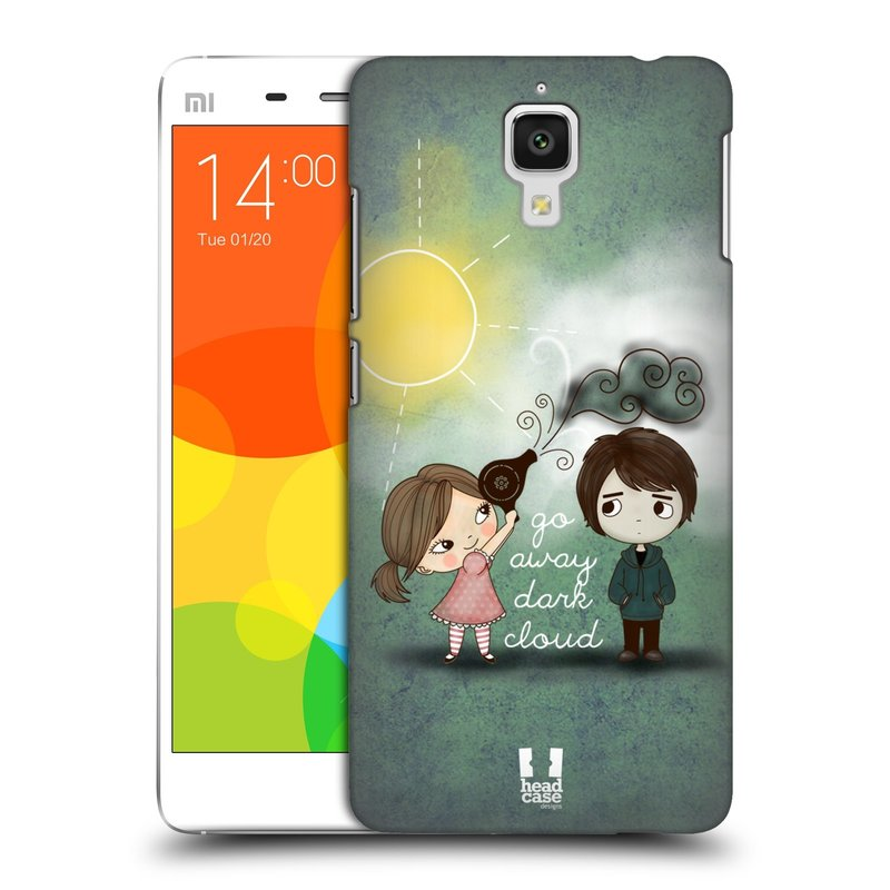 Plastové pouzdro na mobil Xiaomi Mi4 HEAD CASE Emo Love na Sluníčku (Kryt či obal na mobilní telefon Xiaomi Mi4)