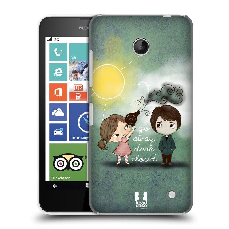 Plastové pouzdro na mobil Nokia Lumia 630 HEAD CASE Emo Love na Sluníčku (Kryt či obal na mobilní telefon Nokia Lumia 630 a Nokia Lumia 630 Dual SIM)