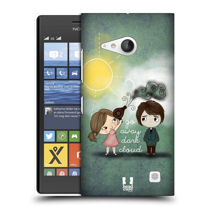 Plastové pouzdro na mobil Nokia Lumia 730 Dual SIM HEAD CASE Emo Love na Sluníčku (Kryt či obal na mobilní telefon Nokia Lumia 730 Dual SIM)