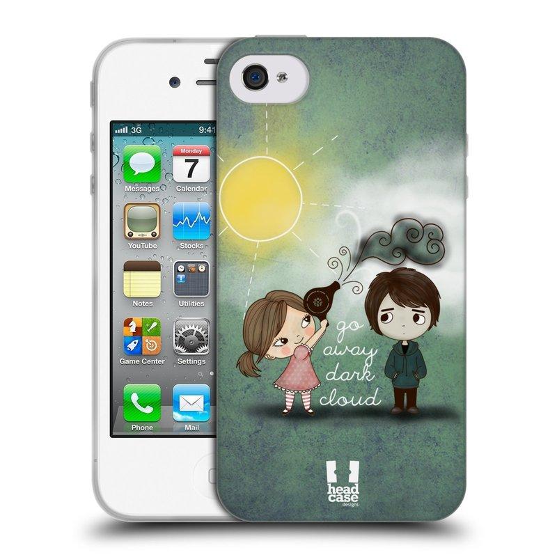 Silikonové pouzdro na mobil Apple iPhone 4 a 4S HEAD CASE Emo Love na Sluníčku (Silikonový kryt či obal na mobilní telefon Apple iPhone 4 a 4S)