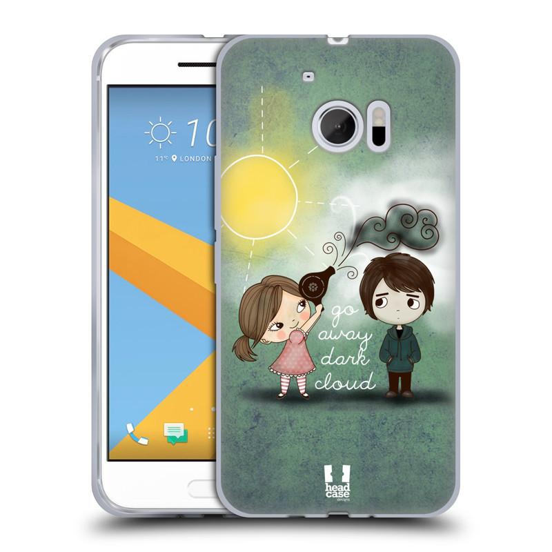 Silikonové pouzdro na mobil HTC 10 HEAD CASE Emo Love na Sluníčku (Silikonový kryt či obal na mobilní telefon HTC 10 (HTC One M10))