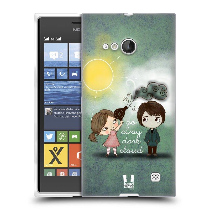 Silikonové pouzdro na mobil Nokia Lumia 730 Dual SIM HEAD CASE Emo Love na Sluníčku (Silikonový kryt či obal na mobilní telefon Nokia Lumia 730 Dual SIM)