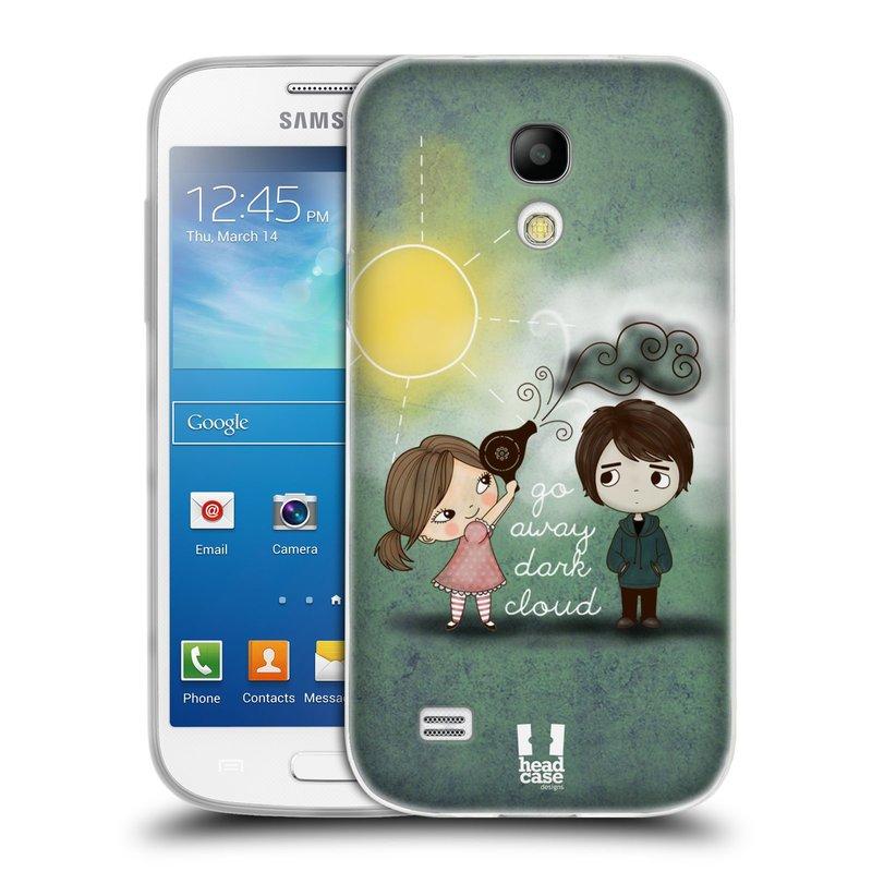 Silikonové pouzdro na mobil Samsung Galaxy S4 Mini VE HEAD CASE Emo Love na Sluníčku (Silikonový kryt či obal na mobilní telefon Samsung Galaxy S4 Mini VE GT-i9195i (nepasuje na verzi Black Edition))