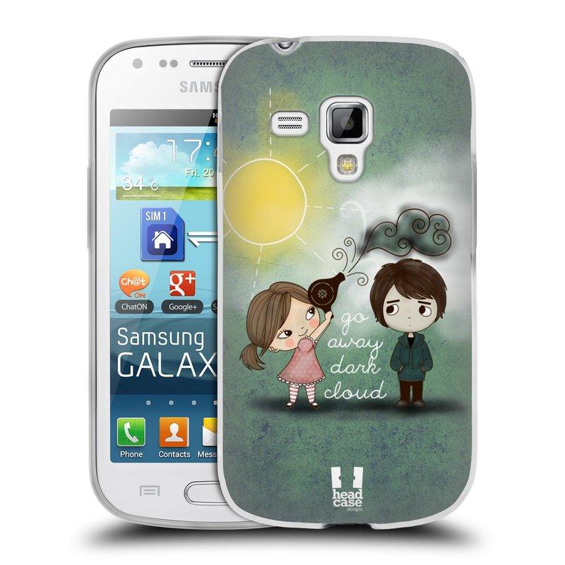Silikonové pouzdro na mobil Samsung Galaxy Trend Plus HEAD CASE Emo Love na Sluníčku (Silikonový kryt či obal na mobilní telefon Samsung Galaxy Trend Plus GT-S7580)