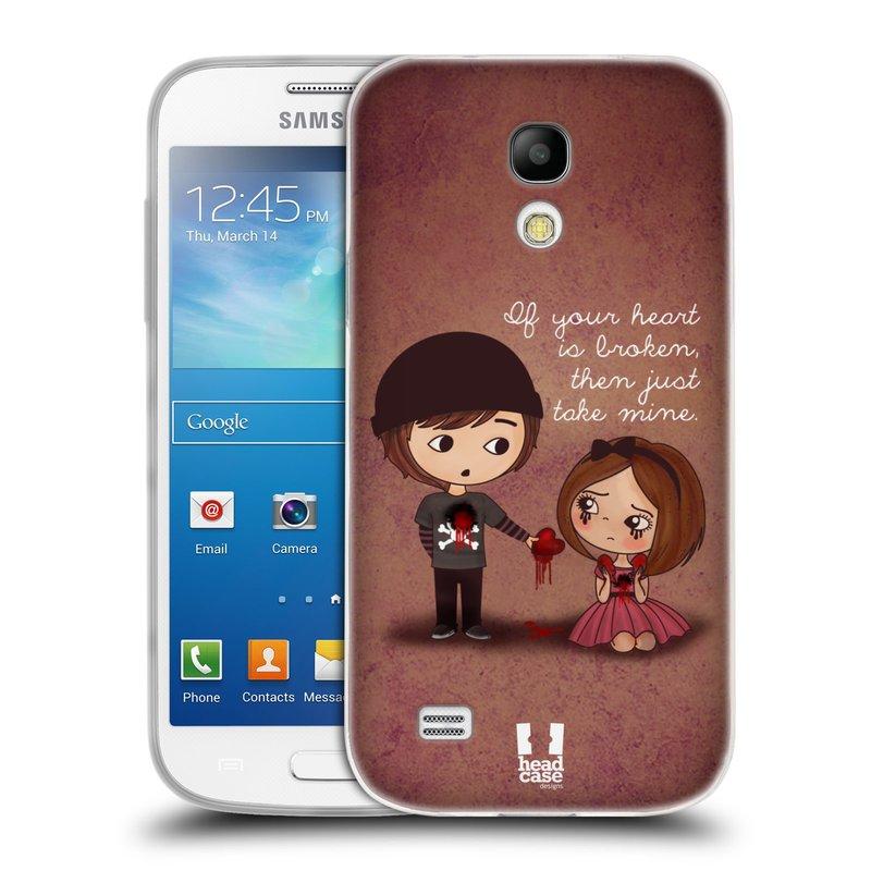 Silikonové pouzdro na mobil Samsung Galaxy S4 Mini VE HEAD CASE Emo Love Srdce (Silikonový kryt či obal na mobilní telefon Samsung Galaxy S4 Mini VE GT-i9195i (nepasuje na verzi Black Edition))